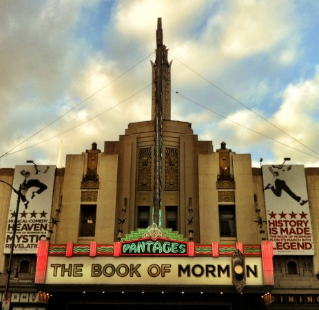 The Pantages Theatre today. Photo by Adrian Scott Fine for the LA Conservancy.