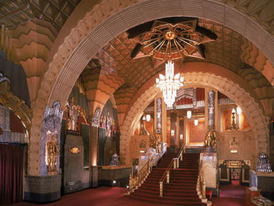 The interior of the Pantages lobby.