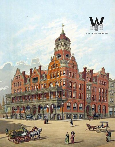 Poster of the Fairhaven Hotel, circa 1890. This is similar to what the hotel looked like when Mark Twain in 1895.