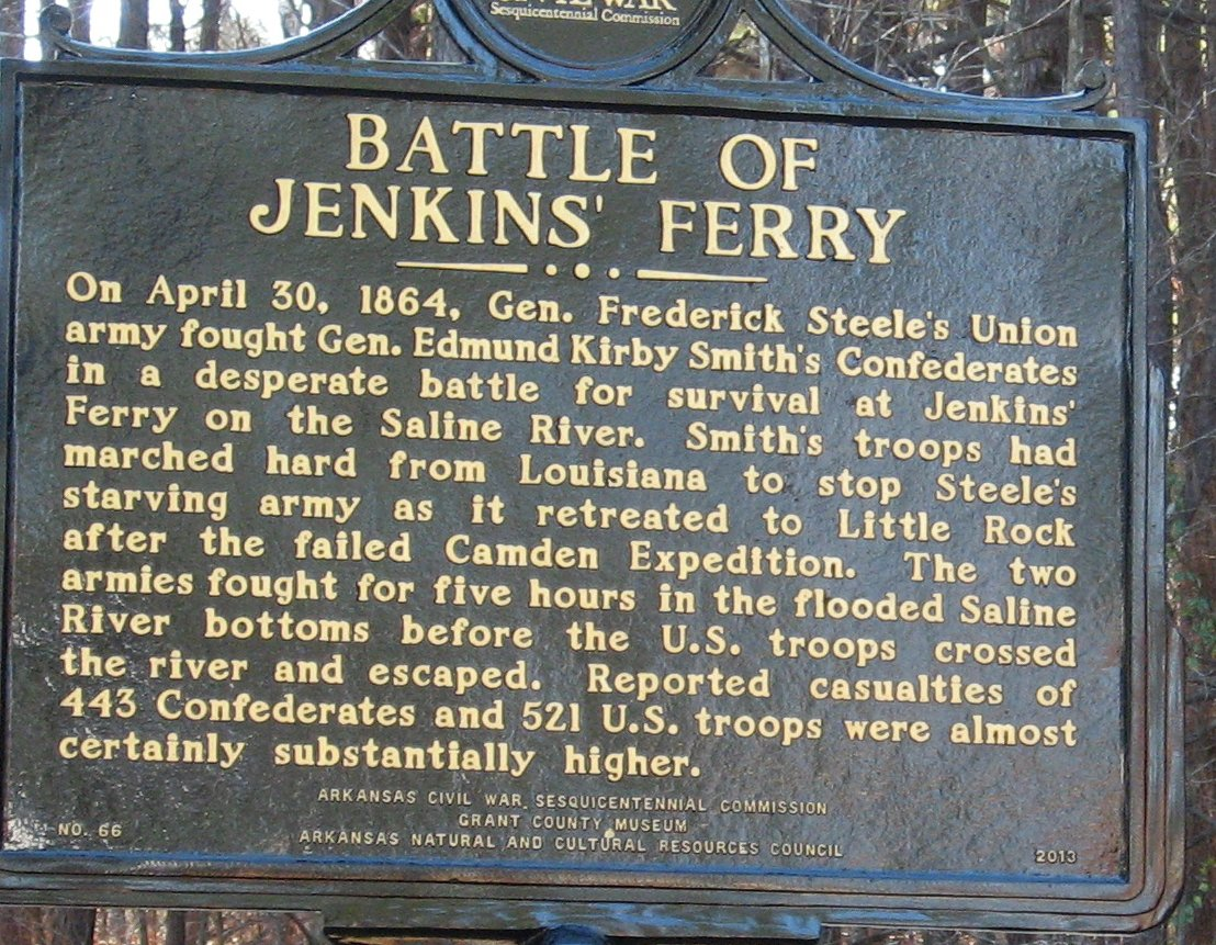 On April 30, 1864, the Confederate forces attacked Union forces at Jenkins' Ferry. The Union troops fled to Little Rock, Arkansas once the battle was over.