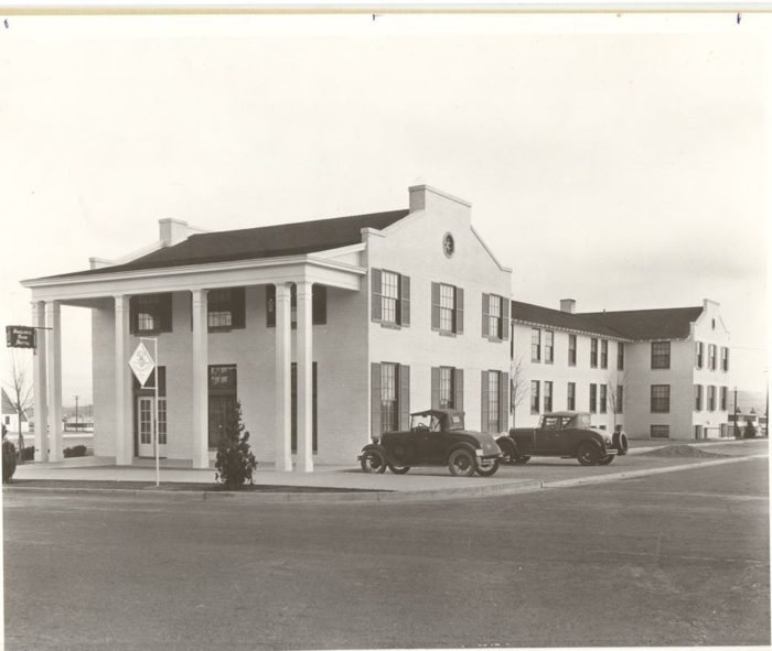 Boulder Dam Hotel, circa 1933.  Source: City of Boulder City, Nevada.