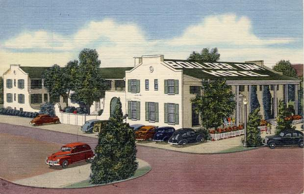 Boulder Dam Hotel, circa 1940s postcard.