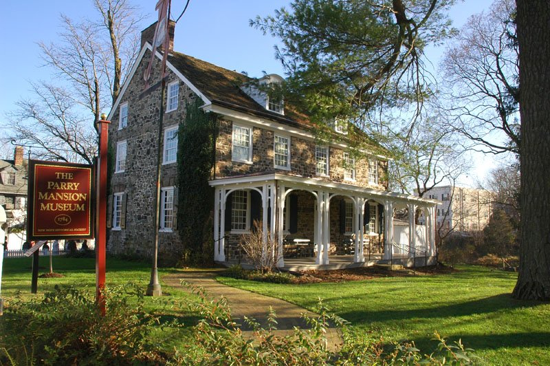 A view of the rear of Parry Mansion, home to the New Hope Historical Society.