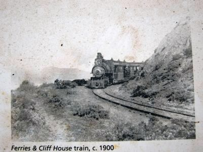 Sutro's Steam Train, c. 1900 (this image appears on the historical marker)