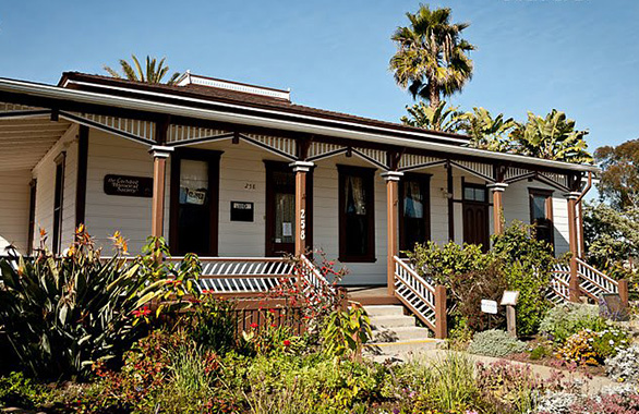 This home was built in 1887 and is now home to the Carlsbad Historical Society.