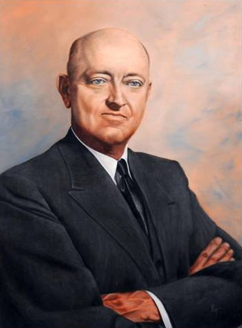 Painting of Frank Crowe, Superintendent of Six Co., Inc. Source: Museum Collection, WikiMedia Commons.