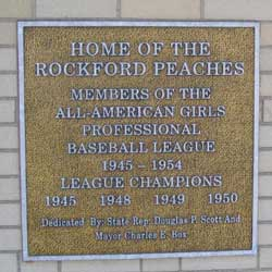 Historic plaque near the ticket booth.