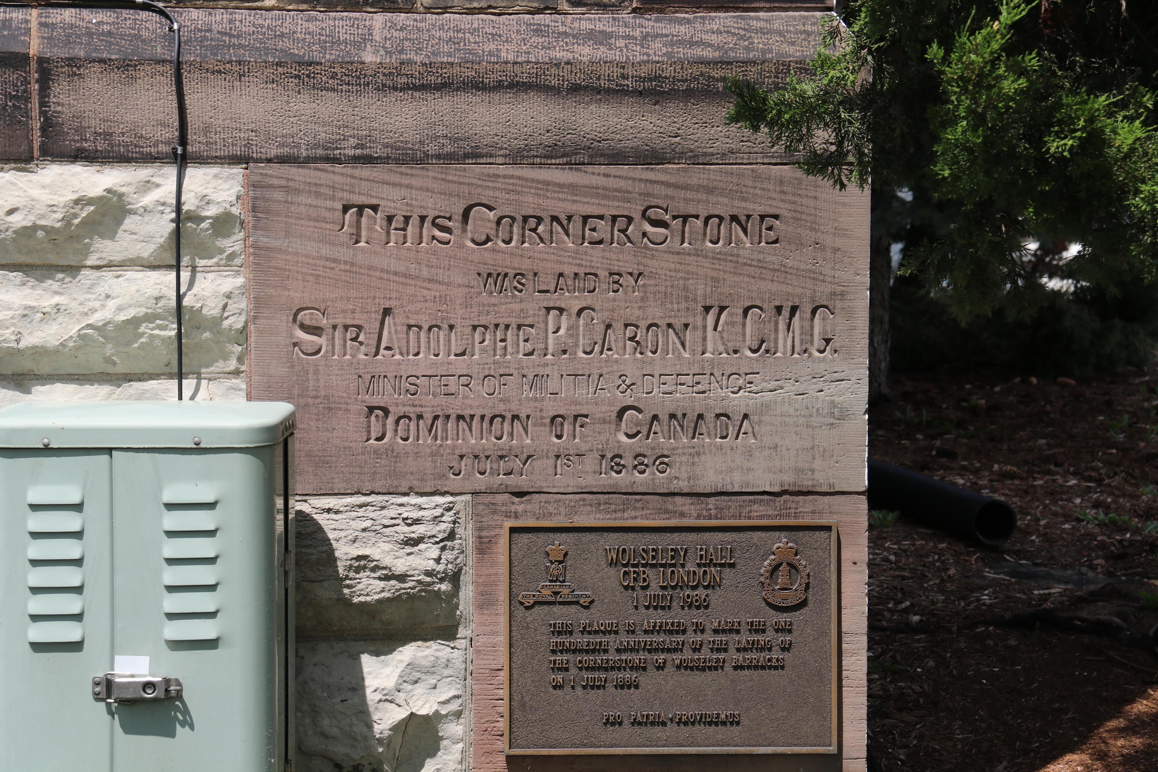 Cornerstone of Wolseley Barracks