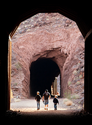 One of the five tunnels along the Historic Railroad Trail. Source: National Park Service.