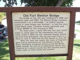 Old Fort Benton Bridge Marker
