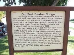 Old Fort Benton Bridge Marker