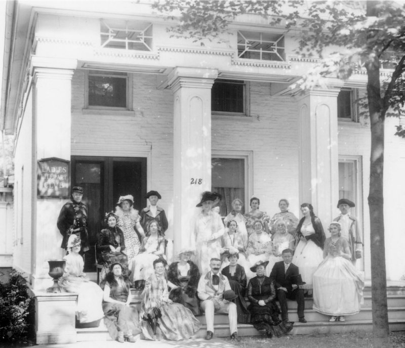 Members of The Ladies' Literary Club in a 1936 Fourth of July Photograph
