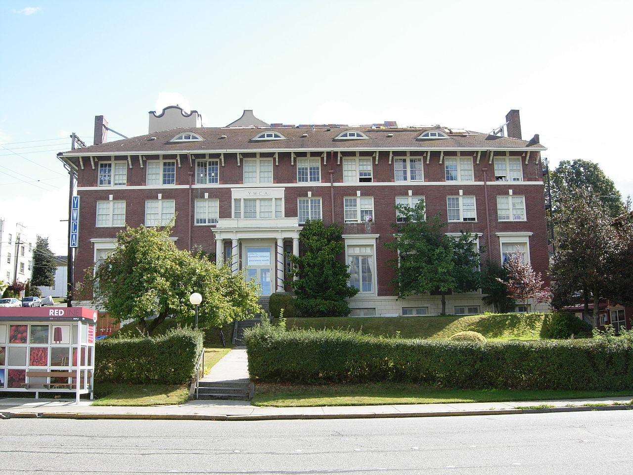Built in 1915, the YWCA Building is a fine example of Colonial Revival architecture. Here, the YWCA has provided housing and services to women and girls for over a century.