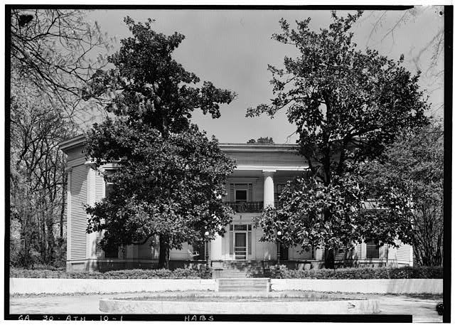 The House as it appeared in 1940 when it was in use as a fraternity house. Photograph was taken by Thomas T. Waterman.