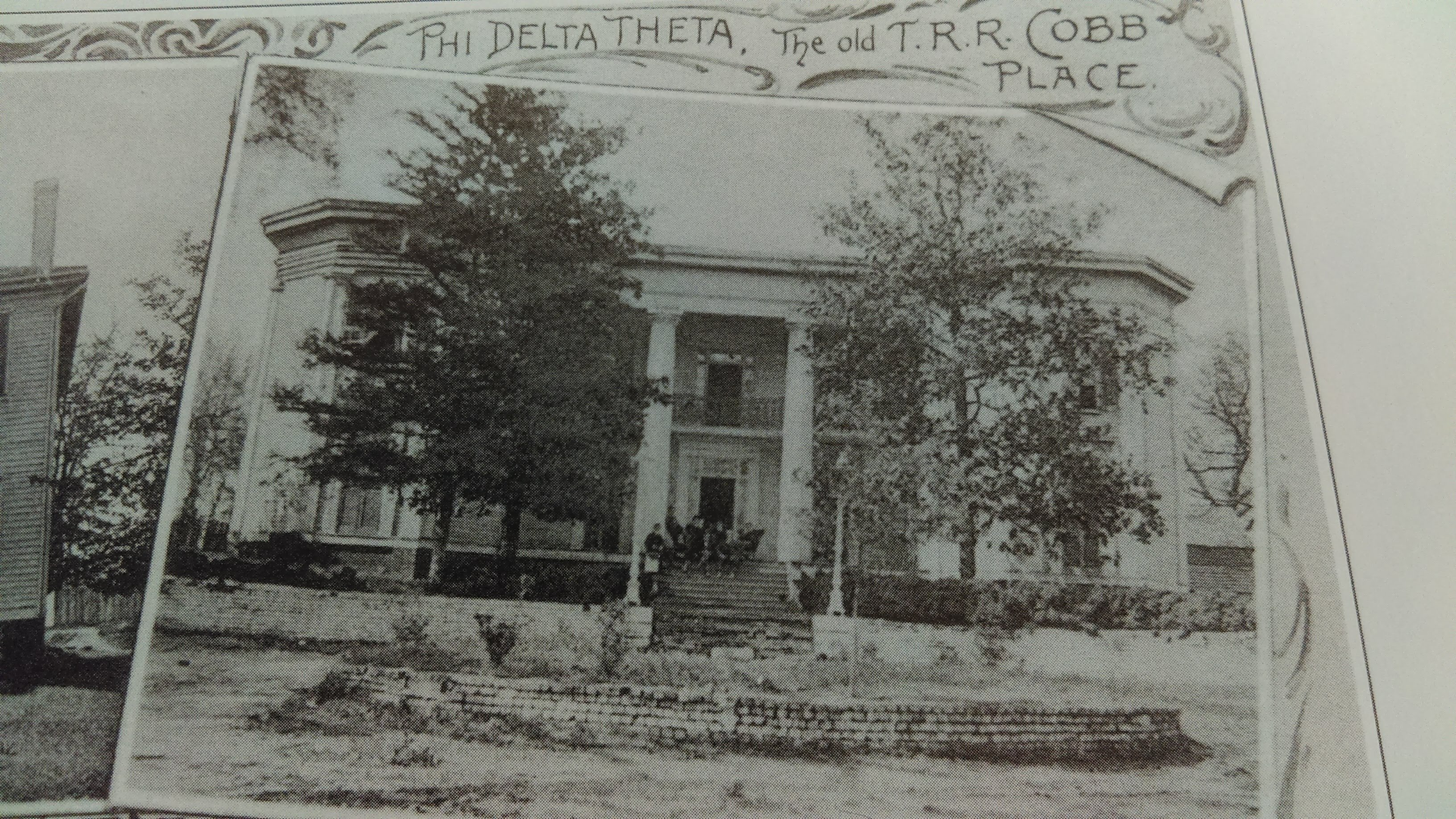 T.R.R. Cobb House around 1900 in use as a Fraternity House for Phi Delta Theta