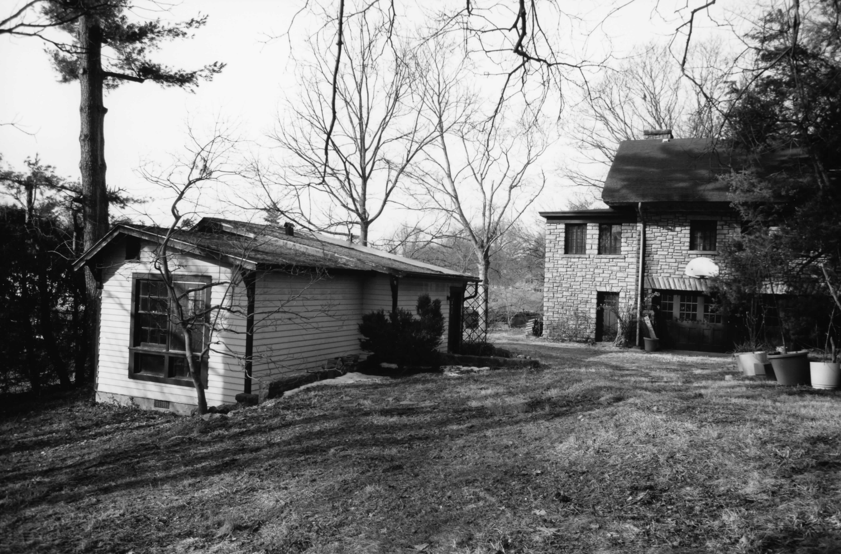 South side of the house, showing the playhouse built by the Biggs family