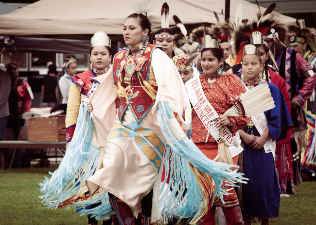 Members of the Wyandotte Nation of Oklahoma at their annual Pow Wow, 2019