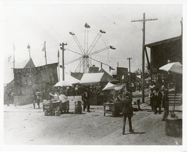 Sky, Electricity, Pole, Vintage clothing