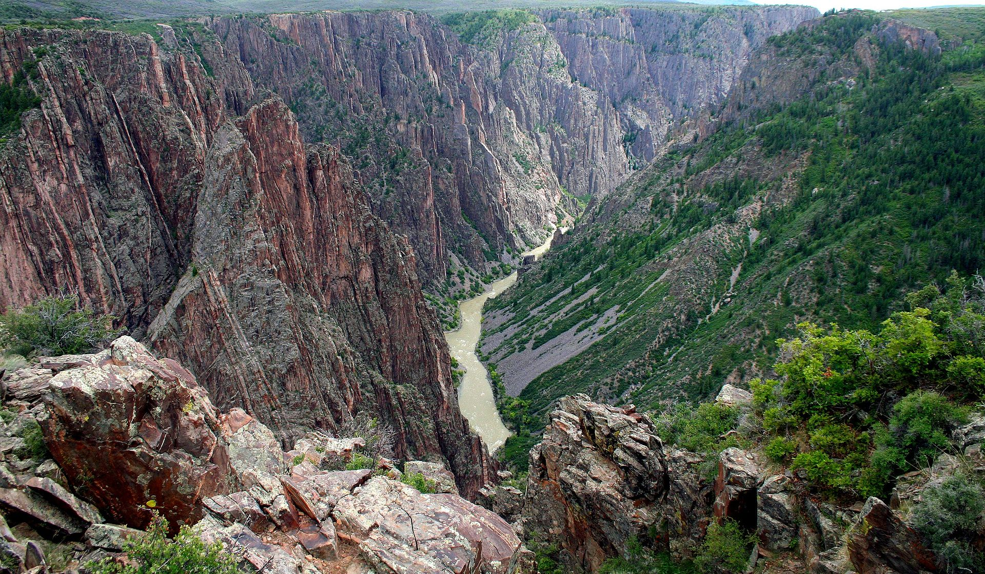 The Black Canyon of the Gunnison River National Park was established in 1999.