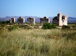 Fort Craig Ruins. The fort was manned by Buffalo Soldiers of the 9th Cavalry and 38th and 125th Infantry as well as the New Mexico Volunteers-local men of Hispanic origin.