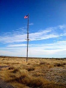 Flagpole at Fort Craig
