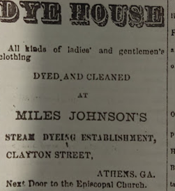 Adversitement for the Dyehouse in an Athens African American Newspaper