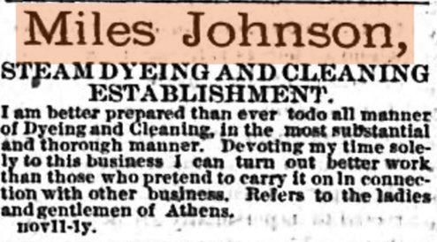 Advertisement from April 6th, 1882