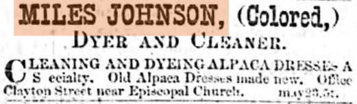 Advertisement from June 13th, 1876