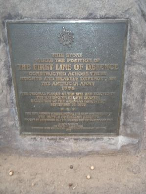The First Line of Defence Marker
