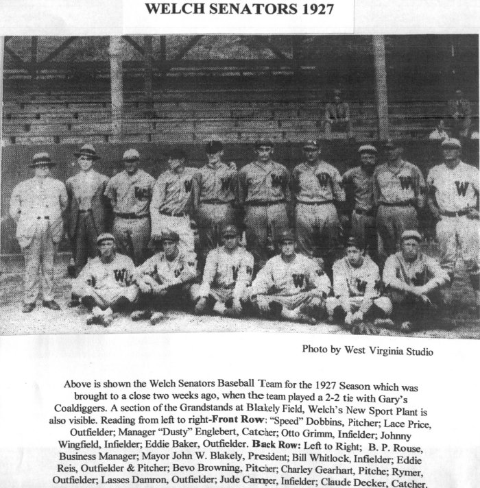 1927 Welch Senators.