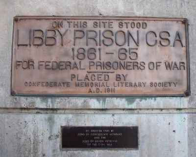 Libby Prison floodwall plaque