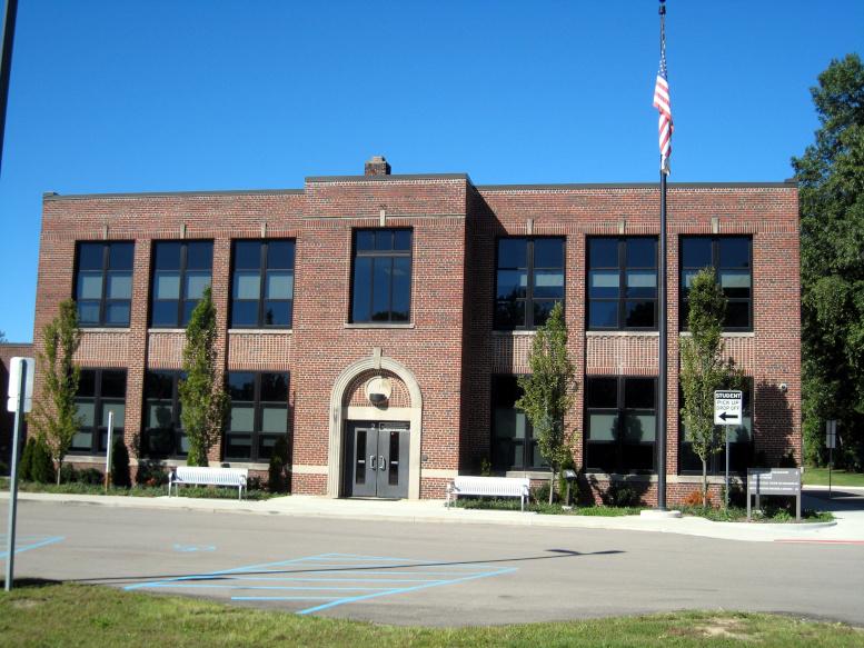 Avon School, east elevation, 2020