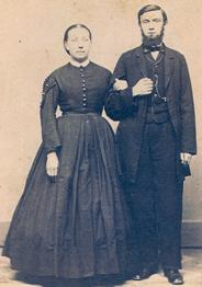 Carl Pflanze (right) and his wife (left)