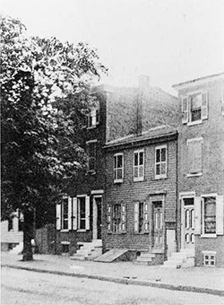 The modest two-story house on Mickle Street was first built in 1848. Image obtained from the Library of Congress.
