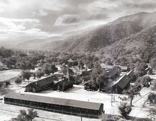 Tuna Canyon Detention Station, circa 1942. Source: Little Landers Historical Society.