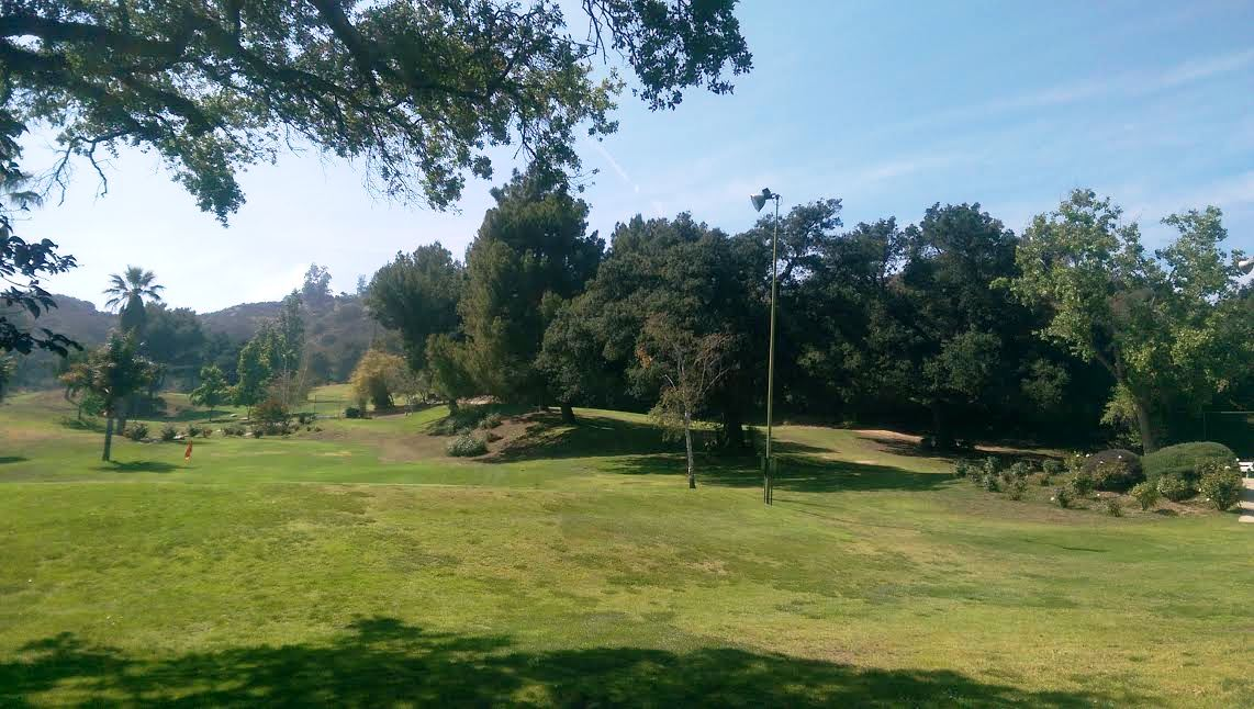 The location of the former Tuna Canyon Detention Station (Verdugo Hills Golf Course). Source: M. Urashima, 2015.