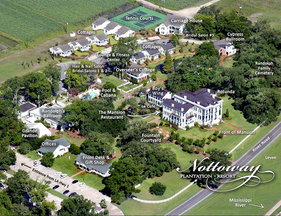 Nottoway property map. Credit: Nottoway Plantation