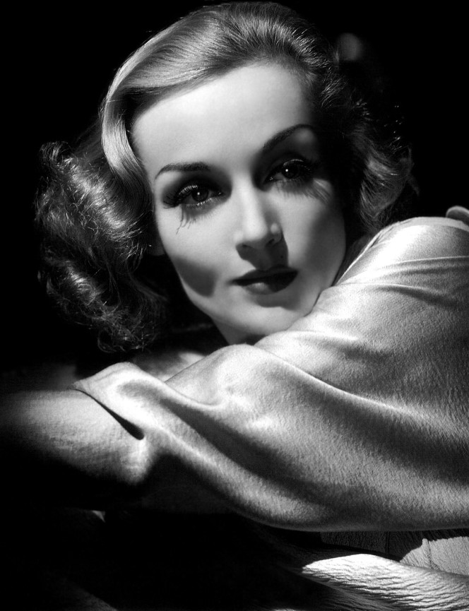 Carole Lombard photographed by George Hurrell in 1937.