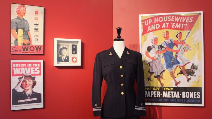 A recent exhibit featured women in the United States armed forces.