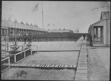 Over 10,500 troops and 11 regiments were trained at Camp William Penn.