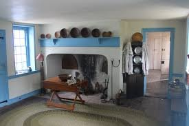 The simple colonial kitchen within the mansion.