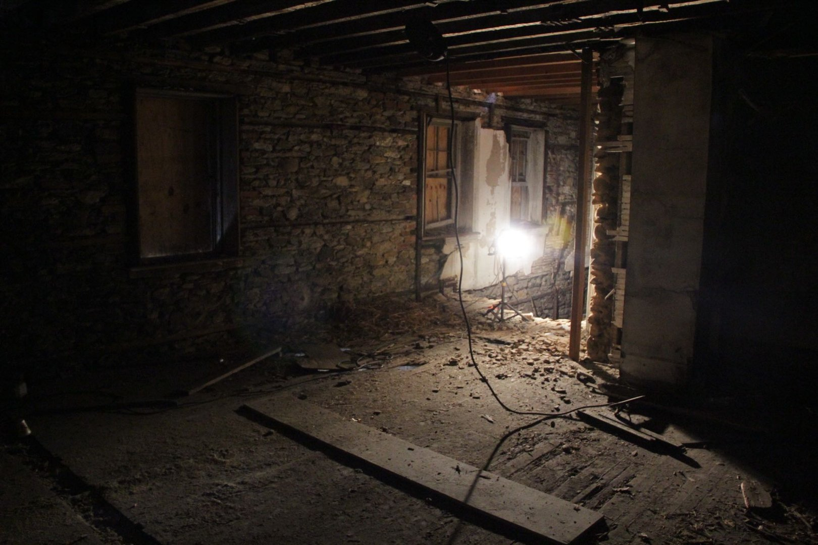 This image was taken while the Friends of Bolton Mansion worked on its restoration.