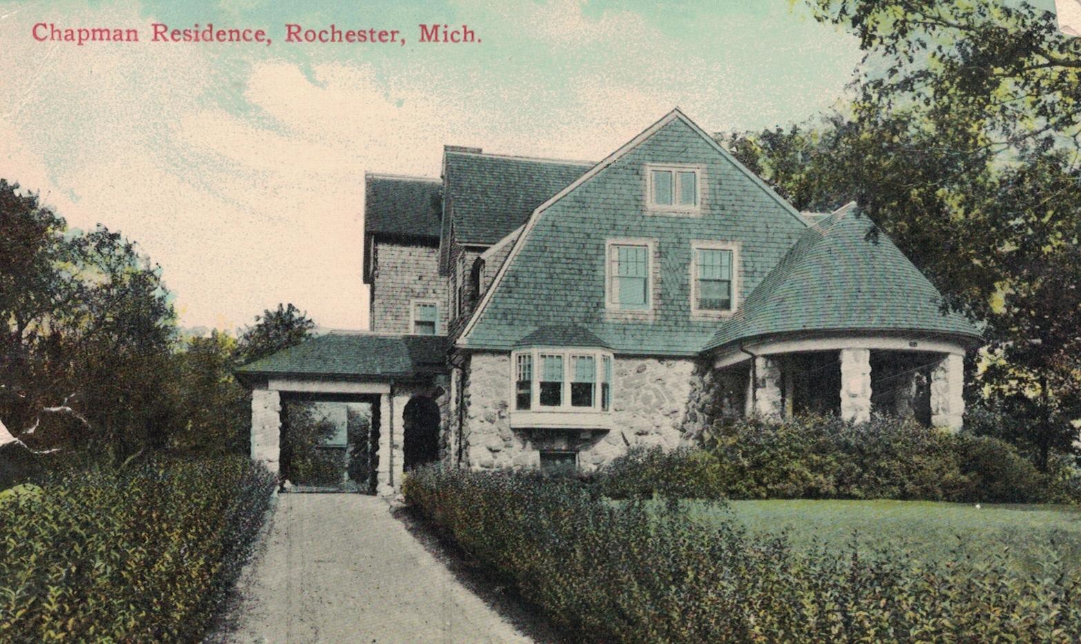 Postcard view of Charles Sherwin Chapman Estate, ca. 1915