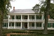 Front view of the main house at the plantation