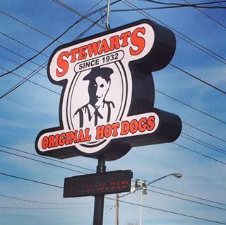 Stewart's Original Hot Dogs sign