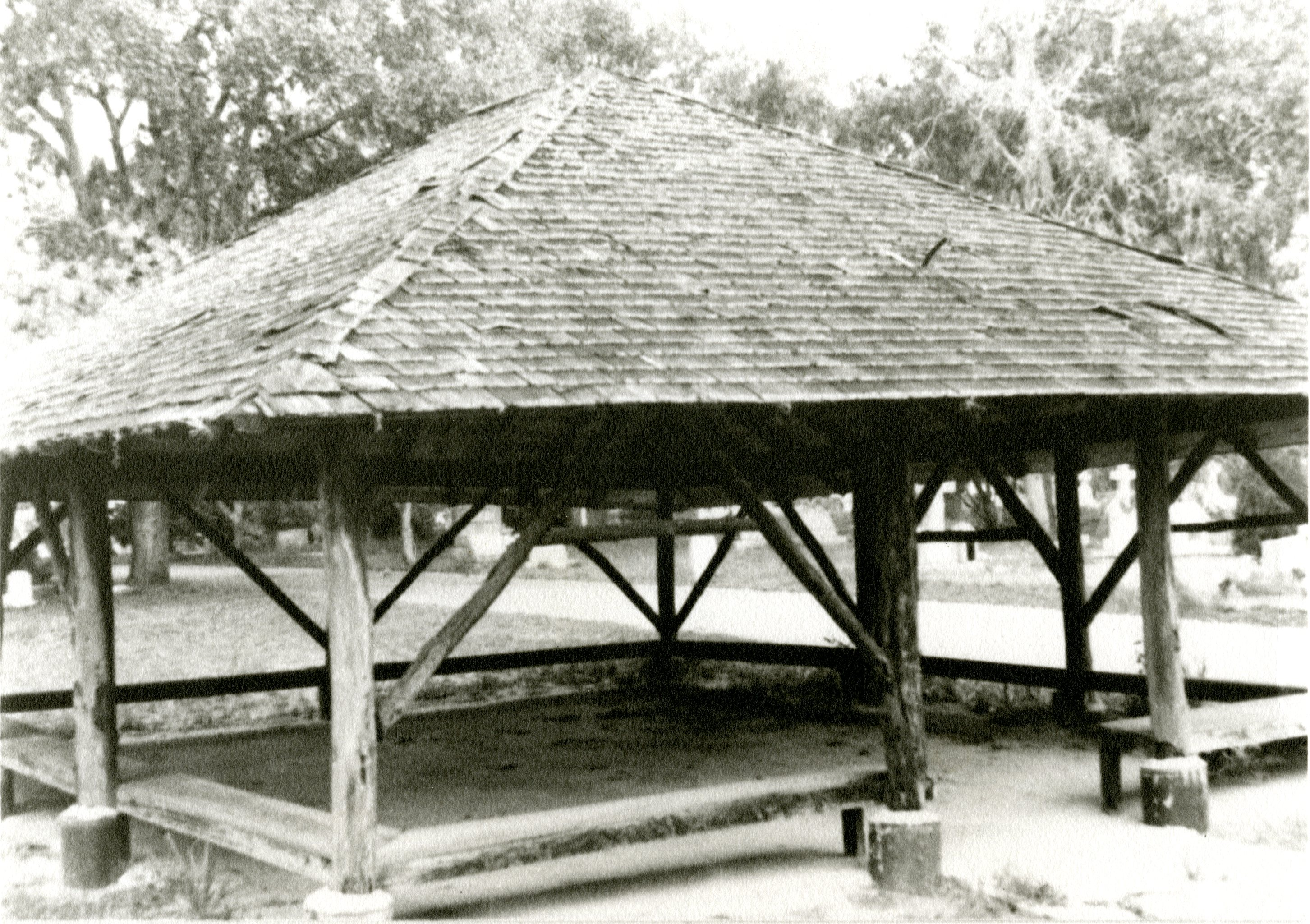 Safford Pavilion at Cycadia Cemetery in Tarpon Springs, Florida, undated.
