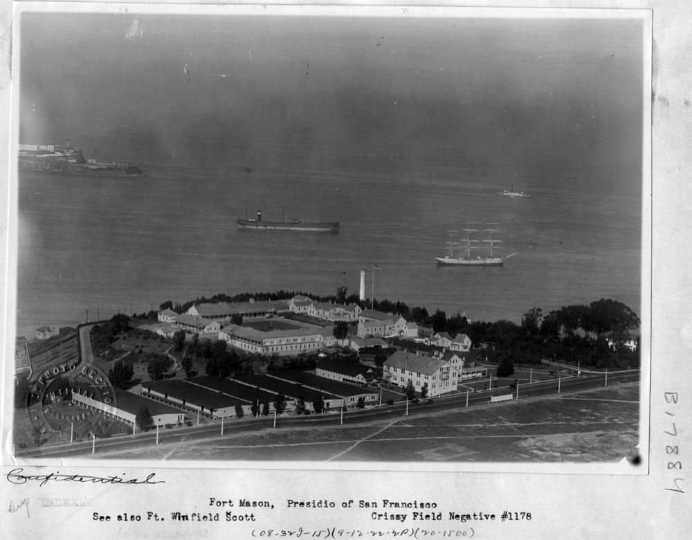 Fort Mason overlooking San Fransisco Bay