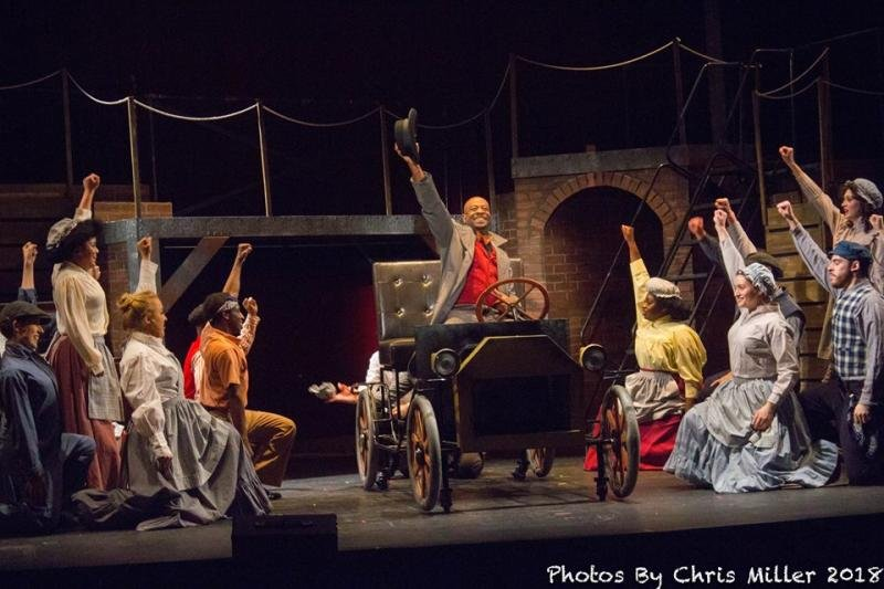 The cast of Ragtime performs at the Ritz.