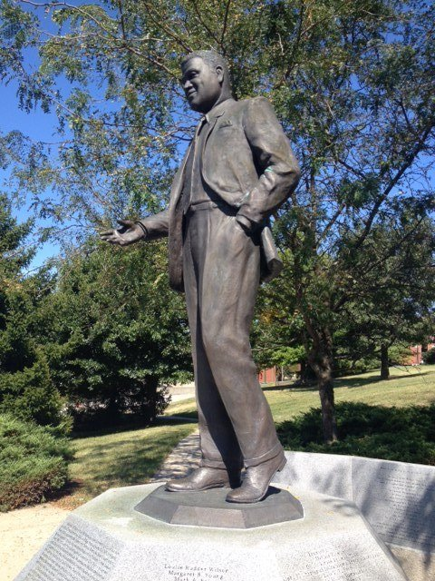 Whitney M. Young Jr. statue is on the campus at Kentucky State University. The photo was taken by Stuart Sanders.