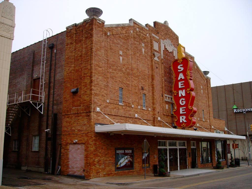 A photo of Hattiesburg's Saenger Theater